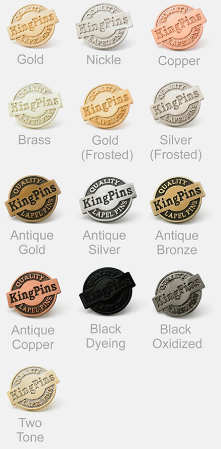KingPins Custom Designed Service: Badges, Coins, Lapel Pins, and More