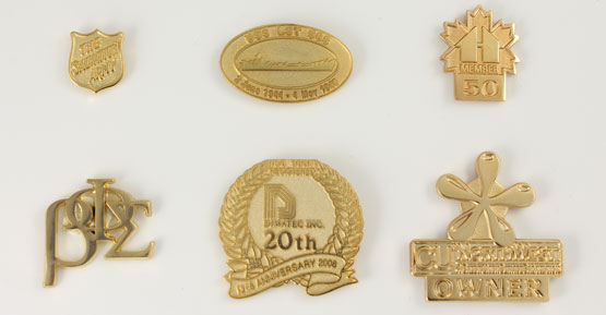 Die-Struck (Gold on Gold) Pins